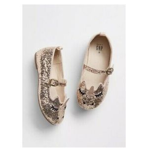 NWT Baby Gap Unicorn Sparkle Shoes in Rose Gold
